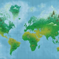 Фототапет 851100 World Map