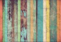 Фототапет 966 Colored Wooden Wall